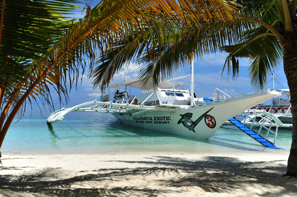 Exotic dive boat