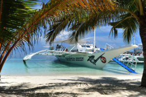 Exotic dive boat